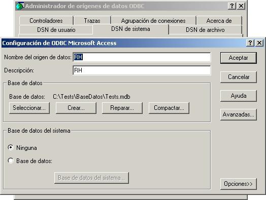 Editar el ODBC RH